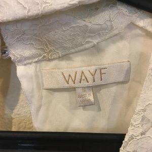 Wayf Tops - Wayf 'Ryan' lace choker bell sleeve top